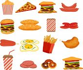 Fast food, objects set