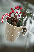Greeting Card With Christmas Stuff Cup
