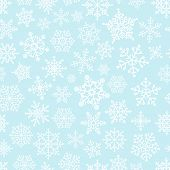 Snowflake seamless pattern. Design template