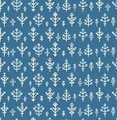 Different snowflake seamless pattern. Design template