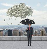 Businessman And Falling Dollar