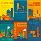 Industry poster set
