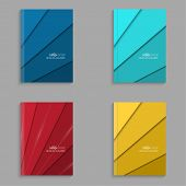 picture of booklet design  - Set of covers for the magazine of the colored stripes - JPG