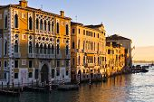 foto of academia  - Sunrise in Venice at Grand canal near Academia bridge, Italy