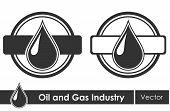 Oil symbols. Corporate emblem. Vector illustration.