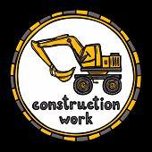 Architect building construction work sketch