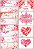 Set of horizontal banner for Valentines day