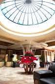 SHARM EL SHEIKH, EGYPT - DECEMBER 15: New Year interior in lobby of the popular hotel on December 15