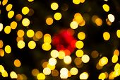 Abstract Background with Bokeh for Christmas and New years festival.