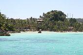 Scenic Views Of The Coastline Of Boracay Island