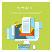 Web contact and business newsletter