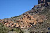 Landscape of Teide National Park. Tenerife, Canary Islands,Spain