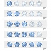 Snowflake shape ranking tags template.