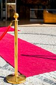 Empty Red Carpet For Our Dear Guests