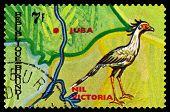 Vintage  Postage Stamp. Animals Burundi, Nil Victoria.