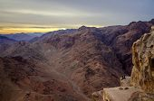 Egypt, Sinai Mountains. One On The Edge Of The Abyss