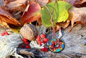 Ethnic Handmade Clay Necklace