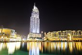 Dubai, Uae - September 10: The Night View On Dubai Mall And Address Hotel. It Is The World's Largest