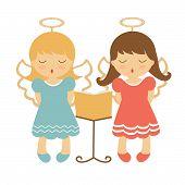 Cute angels illustration