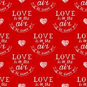 Valentine's day typography seamless pattern