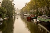 Amsterdam Canal In The Morning