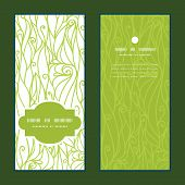 Vector abstract swirls texture vertical frame pattern invitation greeting cards set
