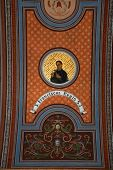 TRAVNIK, BOSNIA AND HERZEGOVINA - JUNE 11: Saint Francis Regis, fresco on the ceiling of the church of St. Aloysius in Travnik, Bosnia and Herzegovina on June 11, 2014.