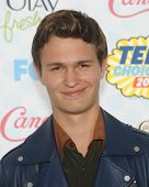 LOS ANGELES - AUG 10:  Ansel Elgort arrives to the Teen Choice Awards 2014  on August 10, 2014 in Los Angeles, CA.