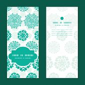 Vector abstract green decorative circles stars striped vertical frame pattern invitation greeting ca