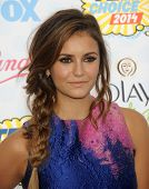 LOS ANGELES - AUG 10:  Nina Dobrev arrives to the Teen Choice Awards 2014  on August 10, 2014 in Los Angeles, CA.
