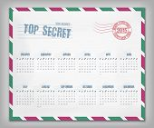 Calendar With Postal Envelope On 2015 In Vector