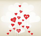 love background with hearts valentine day