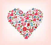 big shape of cute hearts
