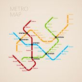 pic of suburban city  - metro or subway map design template - JPG