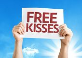 Free Kisses card with a beautiful day