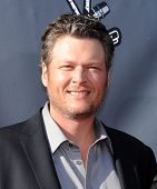 LOS ANGELES - APR 03:  Blake Shelton arrives to the 'The Voice Celebrtaes Season 5  on April 03, 2014 in Hollywood, CA