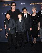 LOS ANGELES - DEC 15:  Brad PItt, Maddox Jolie-Pitt, Shiloh Jolie-Pitt, Pax Jolie-Pitt  arrives to the