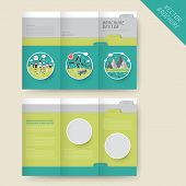 Ecology Concept Tri-fold Brochure Template