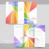 Colorful Tri-fold Brochure Template Design