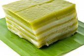 stock photo of chan  - Thai sweetmeat or Khanom Chan is a kind of sweet Thai dessert traditional thai dessert - JPG