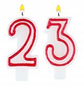 Birthday Candles Number Twenty Three Isolated