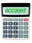 Calculator With Account On Display
