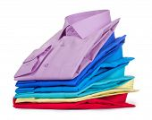 Stack Of Shirts, Isolated Over White