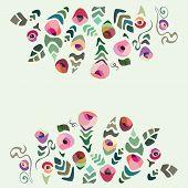 Colourful Hollyday Flower Card