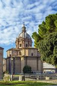 image of rebuilt  - Santi Luca e Martina was an early medieval church but was rebuilt in 1635 64 by Pietro da Cortona Rome - JPG