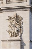 pic of charles de gaulle  - Detail of the sculptures that ornates the Arc de Triomphe - JPG
