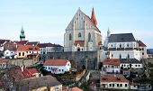 Church and city Znojmo, Czech Republic, Europe