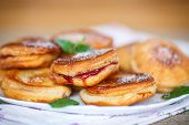Fried Cakes With Jam