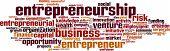 stock photo of entrepreneurship  - Entrepreneurship word cloud concept - JPG