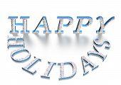 Three-dimensional Inscription Happy Holiday
